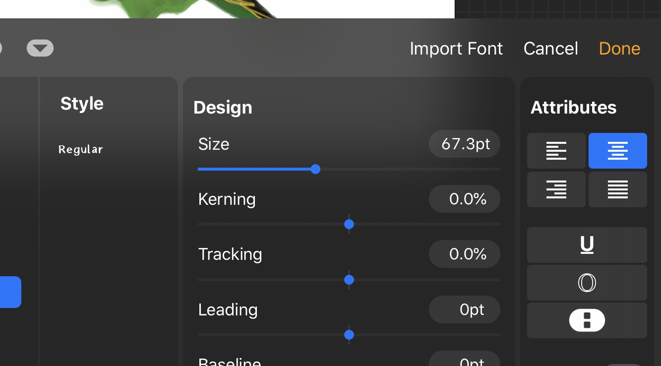 import fonts to procreate